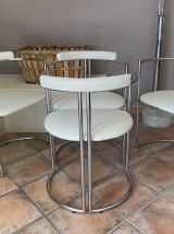 Lot table et 4 chaises La Metal Arredo Paderno. Milano. 1970