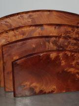 Porte courrier en loupe de bois
