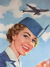 Valise hôtesse de l'air des années 60