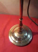 lampe de bureau articulé 1900 a 30  laiton 54x33     et tuli
