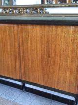 Enfilade Buffet vernis en marbre époque 1960-1970