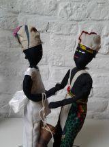 Poupées chiffons africaine.