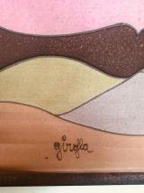 Rare panneau soie peinte Girofla années 70