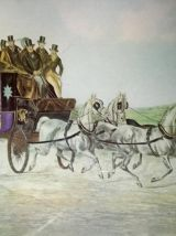 """Lithographie anglaise  """"The Brighton daymails"""""""