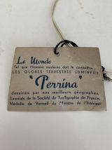 Globe terrestre vintage 1960 verre Perrina - 30 cm