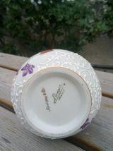 Joli flacon en porcelaine émaillée (Limoges)