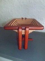 corbeille pliable en  bois