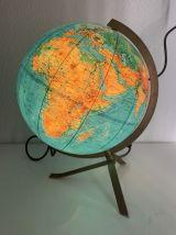Globe terrestre vintage 1960 PVC JRO wechselbild - 33 cm