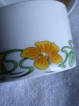 Déjeuners tasses sous-tasses porcelaine Berry L. Lourioux