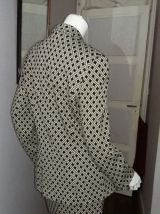 Tailleur  vintage  IRENE VAN RYB laine motifs 38/40