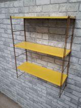etagere string   style tomado metal  jaune montant strier or