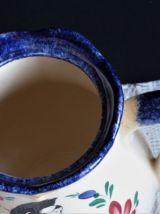 Cafetière à café, cafetière bleue et blanche, théière.