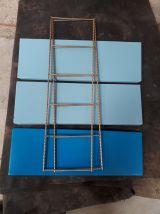Etagere string style tomado 1960 metal 2 bleu  ciel et  1 fo