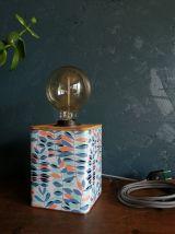 """Lampe vintage lampe de chevet lampe de bureau métal """"Végétal"""