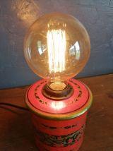 """Lampe vintage lampe de chevet lampe bureau """"Rouge Impérial"""""""