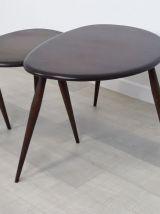 Tables basses gigognes design Ercol années 60 vintage