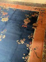 Tapis ancien Chinois Art Deco fait main, 1N04