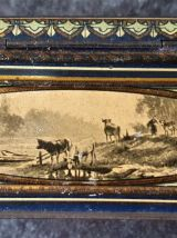 Boite lithographie LU scènes champêtres