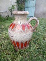 Vase en céramique émaillée 490-25 - West Germany
