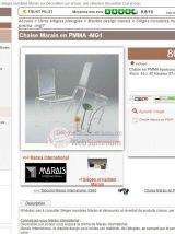Magnifique chaise en Altuglas MARAIS INTERNATIONAL