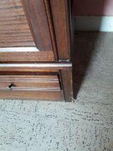 meuble de rangement avec vitrine