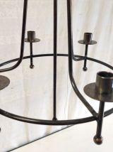 Suspension chandelier 6 feux en métal.