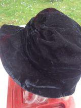 Chapeau velour noir année 1953