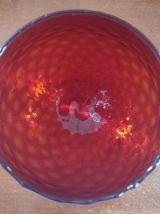 Coupe / vase vintage rouge verrerie italienne