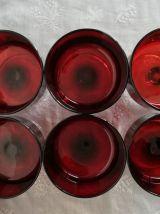 Set de 6 coupes BP rouge vintage