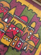 Peinture sur tissu Jérusalem.