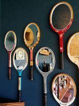 """Miroir mural raquette miroir ovale tennis """"Dunlop Mc Enroe"""""""