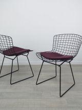 Paire de chaises Wire design Harry Bertoia Knoll vintage ann