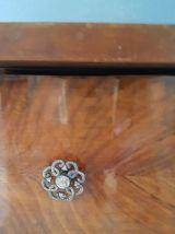 Table de chevet vintage, pied compas