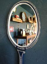 "Miroir mural raquette miroir ovale raquette tennis ""Flash"""