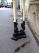 Grande lampe année 80 vintage