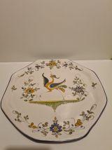 Assiette Céramique de Moustier décor Oiseaux