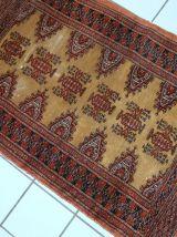Tapis vintage Ouzbek Bukhara fait main, 1C734