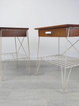 Paire de tables de chevet vintage années 50