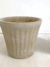 Ensemble de 3 pots de jardin en Fibrociment 70's