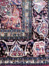 Tapis Persan rectangulaire en laine nouée à la main