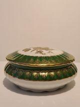 Bonbonnière porcelaine de Limoges décors floral