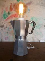 LAMPE VINTAGE - CAFETIERE ITALIENNE - UPCYCLING
