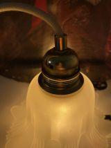 Lampe baladeuse vintage en verre en forme de fleur
