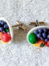 Boutons de manchette fruits