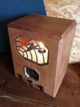 "Lampe en bois lampe vintage radio années 1920 ""Radio L.L"""