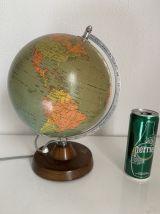 Globe vintage 1974 terrestre de Räth verre ex RDA - 31 cm