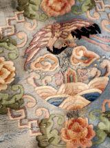 Tapis vintage Chinois Art Deco fait main, 1B868