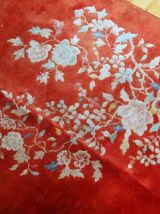 Tapis ancien Chinois Art Deco fait main, 1B869
