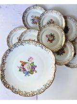 Service aux gâteaux en Porcelaine Limoges du BERRY