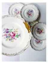 Service à gâteau en Porcelaine de Limoges